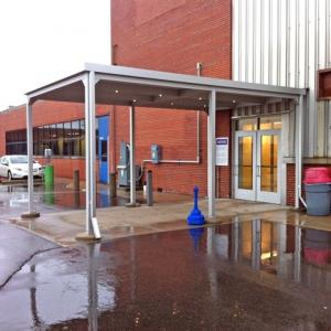 Metal Canopies for Entrances, Buildings, and Walkways