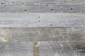 Naturally aged reclaimed wood planks.