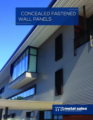 Concealed Fastened Wall Panels