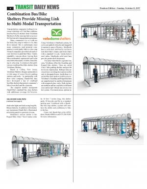 Velodome Shelters Multi-Modal Article