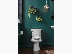 Highline® 1.0 gpf Comfort Height® two-piece elongated toilet with Class Five® flush technology and l | KOHLER