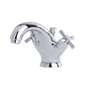Monobloc basin mixer with crosshead handles