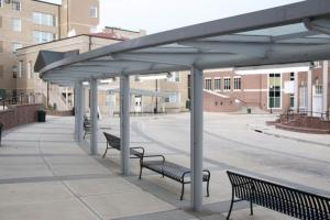 Covered and Enclosed Walkways with Translucent Roofs