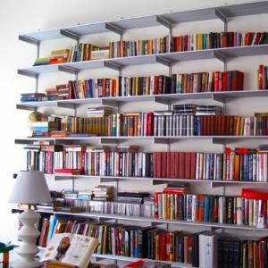 Aluminum Bookshelf Shelving System | Rakks Shelving