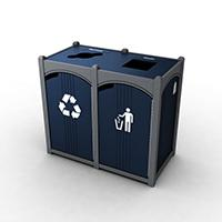 Halston Double Front Load Waste & Recycling Bin