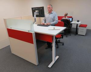 Sit stand desks - Remanufactured Desks and Tables | Davies Office