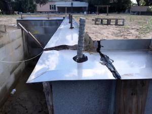 termite shield with termite barrier sealant