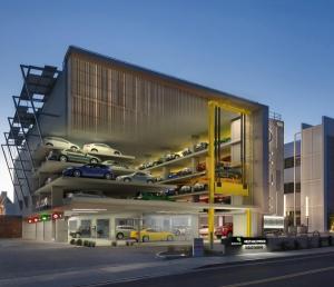 WeHo Municipal automated parking garage City of West Hollywood