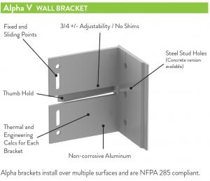 Alpha V Bracket - Vertical | ECO Cladding