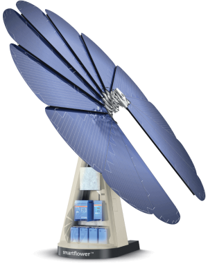 A smart solar solution with battery storage   smartflower