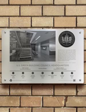 Indoor/Outdoor Landscape Plaque - Building Plaques