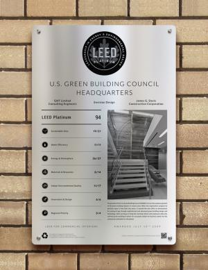 Indoor/Outdoor Portrait Plaque - Building Plaques