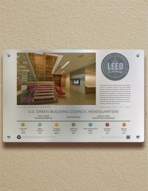Color Indoor Landscape Plaque - Building Plaques