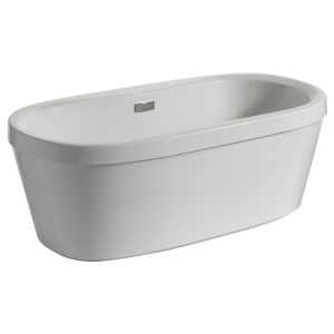 "68"" x 36"" Freestanding Tub with Integrated Waste and Overflow B14416-6836-WH 