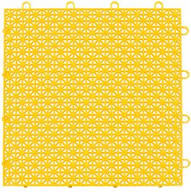 "12"" x 12"" Quix Interlocking Floor Tile - Bright Yellow – Quix Interlocking Tile"