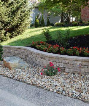 Retaining Walls & Stone - Manufactured Concrete Wallstone