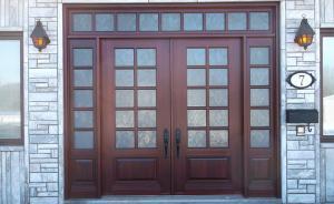 Portes Bourassa | Wooden front door - Classic Style #084