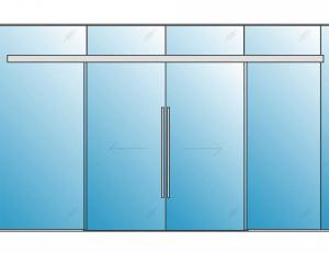 Automatic Open & Close Glass Doors