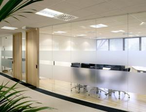 Single Glazed Frameless Glass Partitions & Walls