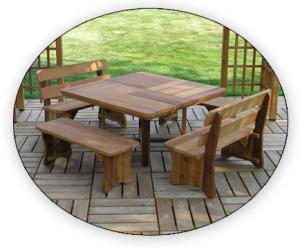 "Baldwin Lawn Furniture - Tables & Benches - 54"" Square Table"
