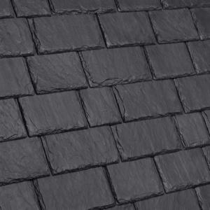 Multi-Width Composite Slate Roof Tile  - Slate Black