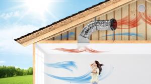 Solar powered attic fans