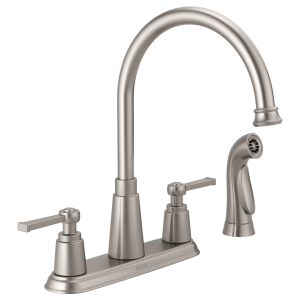 Two Handle Kitchen Faucet with Spray 21742LF-SP