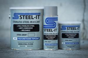 STEEL-IT Steel Gray Polyurethane Topcoat for Automotive and Motorsports Applications
