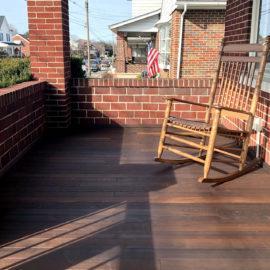 Benchmark White Ash Porch Flooring