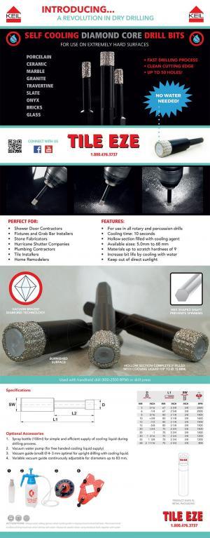 Ceramic, Porcelain, and Glass Tile Drill Bits - TILE EZE INC.