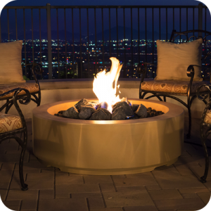 """48"""" Louvre Round Fire Pit"""