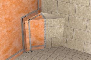 Schluter®-KERDI-KERECK-F/-KERS-B | Waterproofing | Shower System | schluter.com