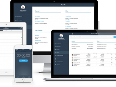 Mobile Time Clock app for Contractors, Construction & Mobile Companies | busybusy™